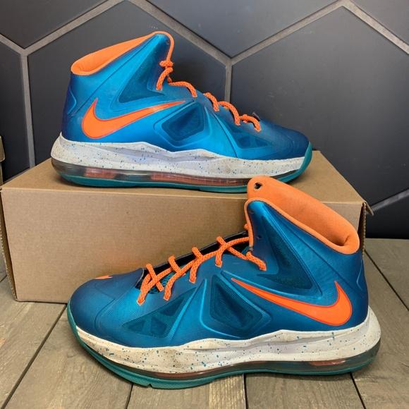 Nike Lebron Gs Turquoise Blue Orange